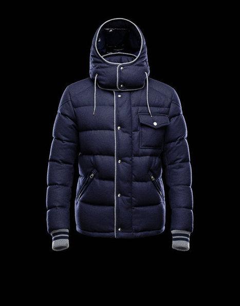 Moncler 2013 Mens Jacket Bresle Blue for Sale Online | Air Jordan shoes | Scoop.it