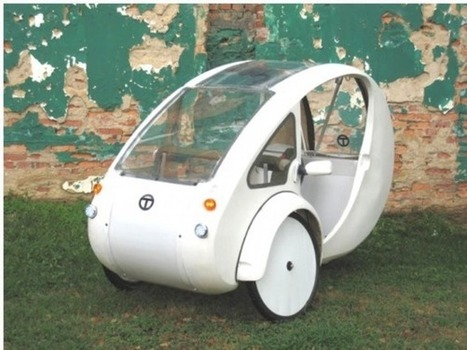 The ELF: A Half-Bike, Half-Car Solar and Pedal-Powered Urban Vehicle by Organic Transit | Organic Gardening, Farming, Lawncare, Landscaping & Eating :) | Scoop.it