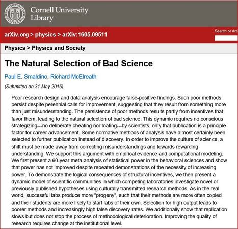 The Natural Selection of Bad Science | Living Health Systems | Scoop.it