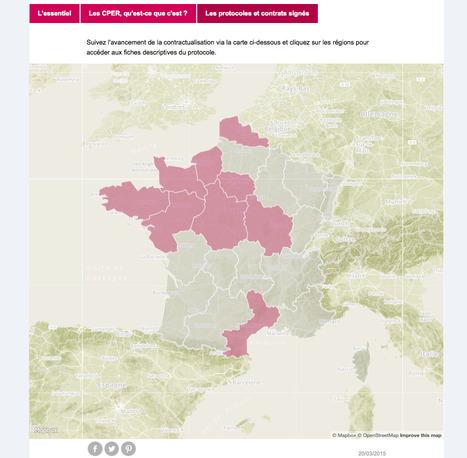 Découvrez la carte de France des protocoles et contrats de PLAN ETAT-RÉGION signés | URBANmedias | Scoop.it