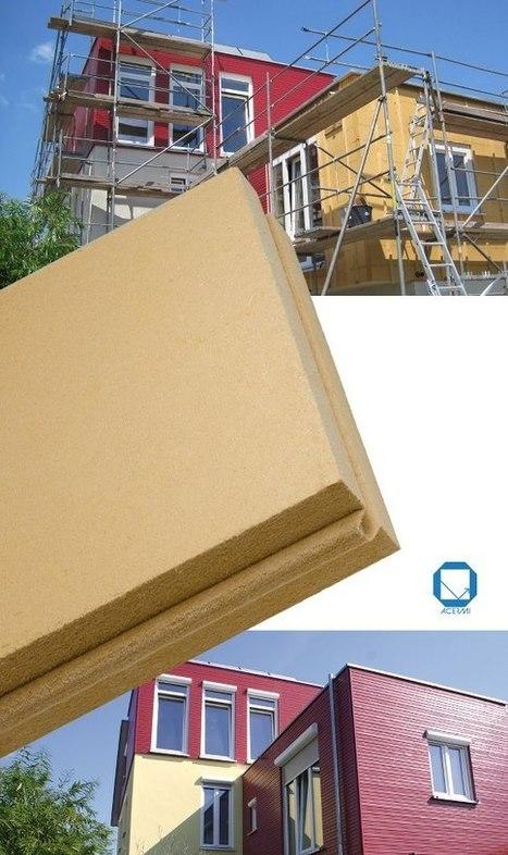 Un isolant fibre de bois spécial façades ventilées. | Ageka les matériaux pour la construction bois. | Scoop.it