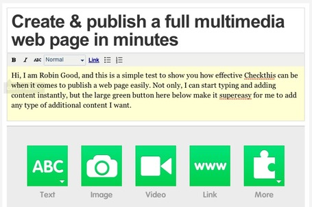 Publish a Multimedia Web Page Instantly: Checkthis | e-learning y moodle | Scoop.it