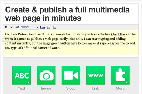 Publish a Multimedia Web Page Instantly: Checkthis | Technology and Education Resources | Scoop.it