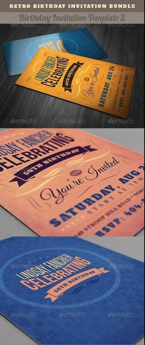 30+ Top Birthday Invitation Card PSD Templates Download | Templates | Scoop.it