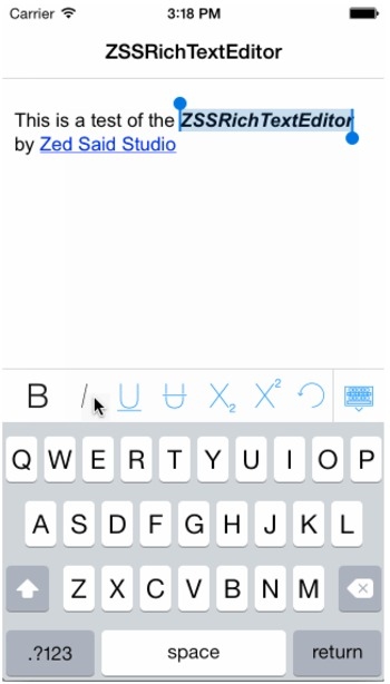 ZSSRichTextEditor: A rich text editor for iOS | iPhone and iPad development | Scoop.it