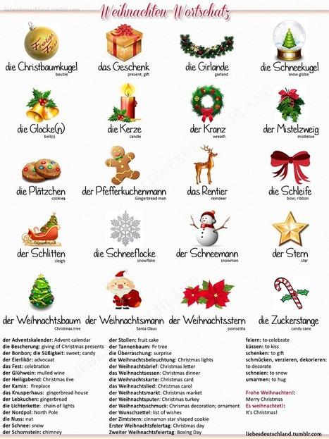 Deutsch-Englisch Christmas vocabulary | Sections bilangues allemand-anglais ............................................. (ressources pour élèves et enseignants) | Scoop.it