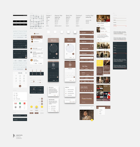 Free Download : Material Design UI Kit | Designbeep | Mobile Technology | Scoop.it