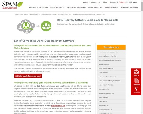 Buy Data Recovery Software Customer Lists from Span Global Services | Span Global Services | Scoop.it