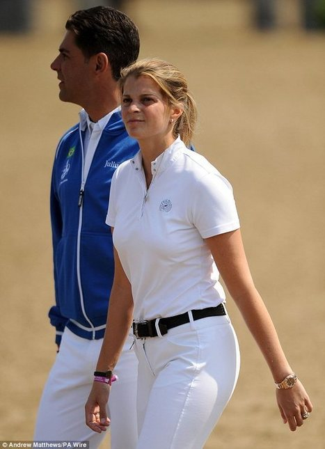 Racing In The... Olympic Park! Heiress Athina Onassis de Miranda competes against Bruce Springsteen's daughter Jessica in showjumping event | Bruce Springsteen Limited Edition Book | Scoop.it