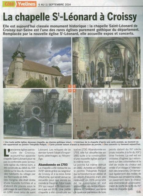 La chapelle au coeur de l'Espace Chanorier | Croissy sur Seine | Scoop.it