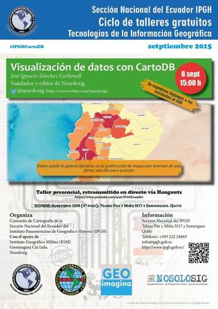 Taller gratuito: Visualización de datos con mapas usando CartoDB