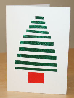 Stripy Christmas Card | Christmas Ideas that rock! | Scoop.it