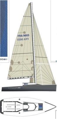 Maquette du voilier Epsilon 3D | Fan-Fan 8, un proto IRC Viant - renaissance, régates, techniques | Scoop.it