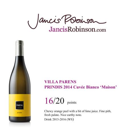 PRINDIS CUVEE BIANCO VILLA PARENS SU JANCISROBINSON.COM | SPEAKING OF WINE | Scoop.it