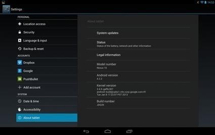 Comment mettre à jour le Nexus 4, Nexus 7, Nexus 10 à Android 4.3 Jelly Bean? | Geeks | Scoop.it