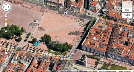 Google Maps : nouvelles cartes à 45° pour 31 villes dont Lyon | INFORMATIQUE 2015 | Scoop.it