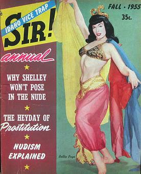 Vintage Sleaze: Bettie Page Sir! Sir Magazine Cover Art 1955   Vintage, Robots, Photos, Pub, Années 50   Scoop.it