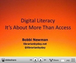 Digital Literacy: It's About More Than Access | Transforming our practice - school libraries | Scoop.it