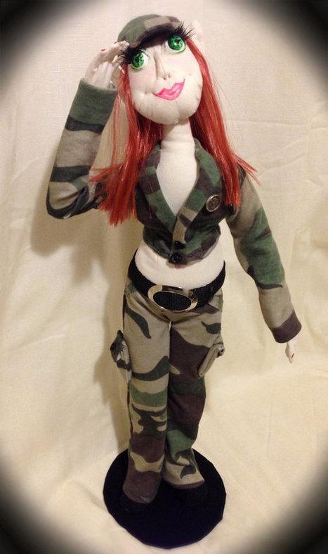 OOAK Army Soldier Pixie Art Doll   Cloth art dolls   Scoop.it