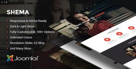 Shema Creative One Page Joomla Template - ServerThemes.Net | Joomla! | Scoop.it