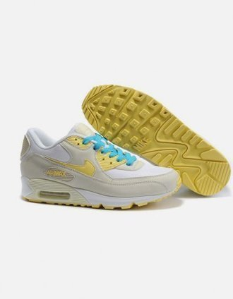 Chaussures Nike Air Max 90 Hommes Blanc Jaune Pas Cher | fashion outlet | Scoop.it