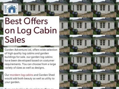 Best Offers on Log Cabin Sales | Garden Adventure Ltd | Scoop.it
