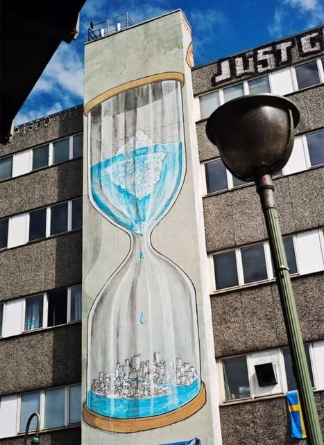 20 obras de arte urbano que hacen conciencia sobre el cambio climático | Agua | Scoop.it