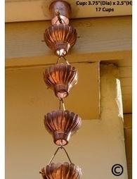 Pure Copper Zinnia Rain Chain 8.5 ft | Copper Rain Chains | Scoop.it
