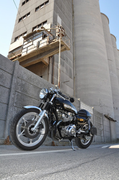 "Inazuma café racer: FMW GS1000 ""Buttocks"": the bottom... over the top 