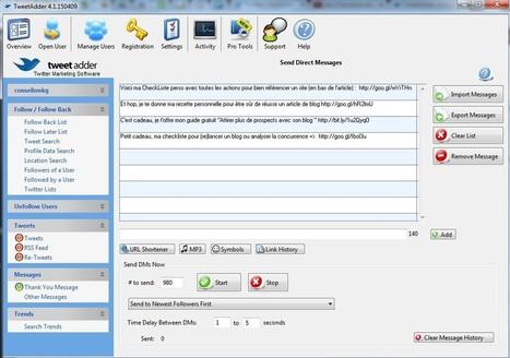2 fonctions de tweetadder pour (enfin) rentabiliser Twitter ! | e-marketing | Scoop.it