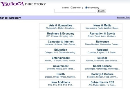 RIP - Yahoo Directory | Allround Social Media Marketing | Scoop.it