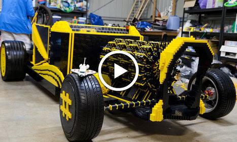 Deux jeunes passionnés fabriquent une voiture en LEGO qui fonctionne exclusivement avec de l'air | GB1 | Scoop.it