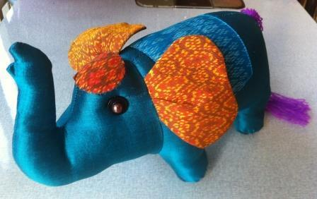 Fair trade Cambodia.Pure silk & Ikat Silk Elephant gift toy, ethically handmade by disadvantaged home based women workers   Handmade Cambodia   Scoop.it