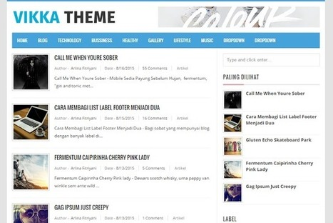 VIKKA | Blogger themes | Scoop.it
