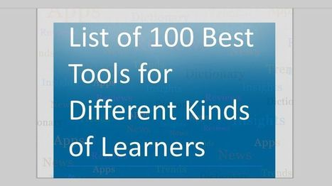 List of Great Tools for Different Kinds of Learners - EdTechReview™ (ETR) | Edtech PK-12 | Scoop.it