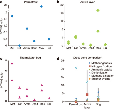 Multi-omics of permafrost, active layer and thermokarst bog soil microbiomes : Nature : Nature Publishing Group | Plant microbiome studies | Scoop.it