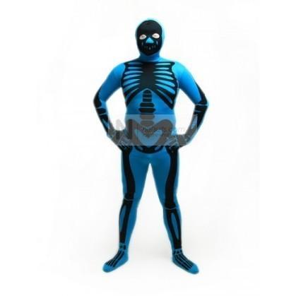 Skeleton Zentai Suit in Blue   Nefsuits   Scoop.it
