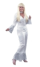 Ladies 1970's White Abba Fancy Dress Costume | Fancy Dress Ideas | Scoop.it