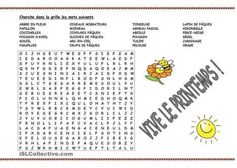 Grille printemps | FLE enfants | Scoop.it