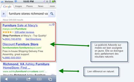 Les Annonces Adwords sur mobile se confondent avec le SEO ! | Institut de l'Inbound Marketing | Scoop.it