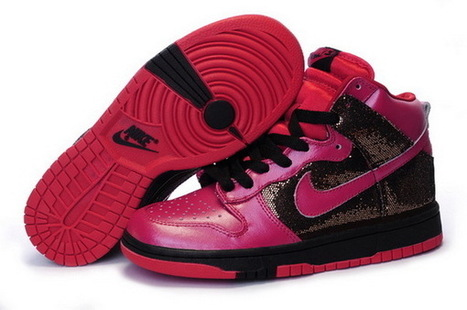 Women Nike Dunk High Top Shoes 032 Black Red Sand | Online Shopping | Scoop.it