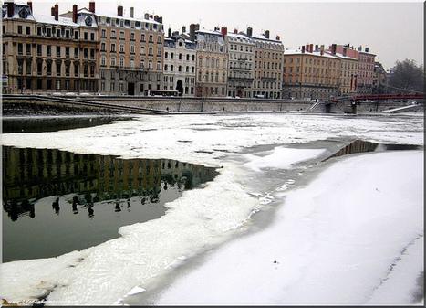 La saône couverte par la neige | Photos de LYonenFrance | LYFtv - Lyon | Scoop.it