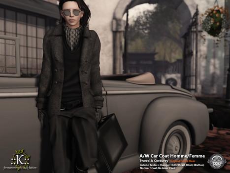 ::K::: ::K:: A/W Car Coat Homme/Femme @ Shiny Shabby October   Style of LIFE   Scoop.it