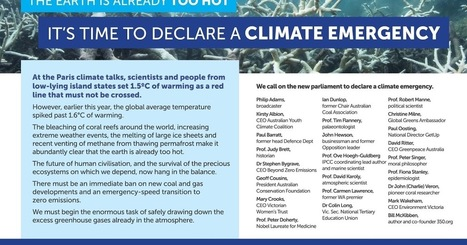 Scientists, business leaders and prominent Australians call for emergency climate action | GarryRogers Biosphere News | Scoop.it