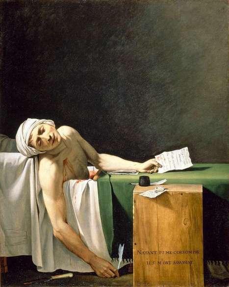 #195 ❘ Marat assassiné ❘ 1793 ❘ Jacques-Louis David   # HISTOIRE DES ARTS - UN JOUR, UNE OEUVRE - 2013   Scoop.it