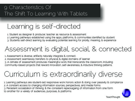 9 Characteristics Of The Shift To Learning With Tablets - TeachThought | iPads in Education | Scoop.it