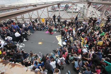 Occupy Wall Street protesters arrested on Brooklyn bridge – in pictures | Epic pics | Scoop.it
