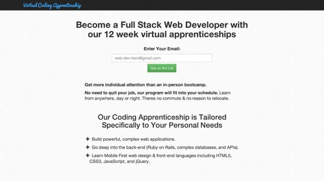 Virtual Coding Apprenticeship | online learning | Scoop.it