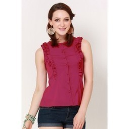 Maroony Babe Frill It Shirt   Online shopping for women   Scoop.it