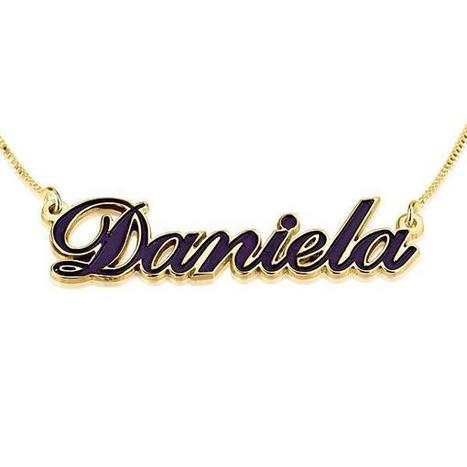 24K Gold Plated Color Name Necklace | Jeweleen - Dazzling Fashion Jewelry | Scoop.it